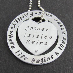 "Family Circle – Classic ""Tiffany"" Heart 
