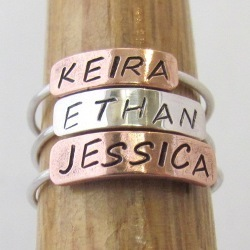 Personalised Bar Rings - Copper