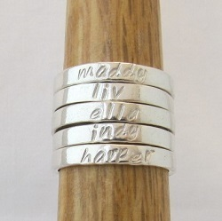 Personalised Band Rings