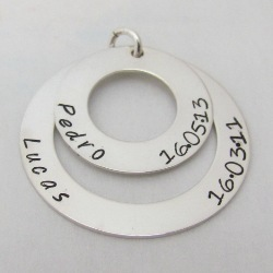 Family Circle – Stack of Love | Sterling Silver Personalised Pendant