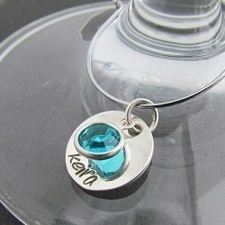 Personalised Wine charms – Sterling Silver