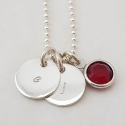 Little Love Letters | Intial Necklace Sterling Silver | Swarovski Crystal
