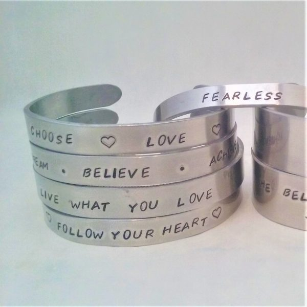 Cuff bracelets personalised