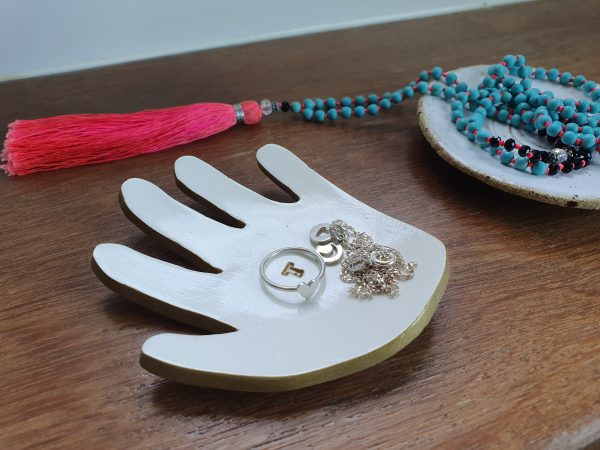 Your childs handprint as a trinket dish