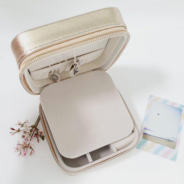 monogrammed jewellery box gold