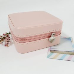 Monogrammed Travel Jewellery Box – Pink