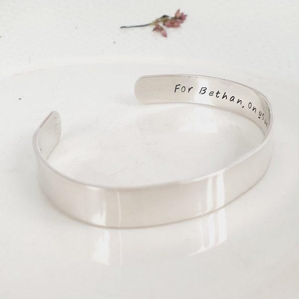 9mm Cuff Bracelet Personalised