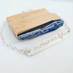 Handwriting Bar Bracelet