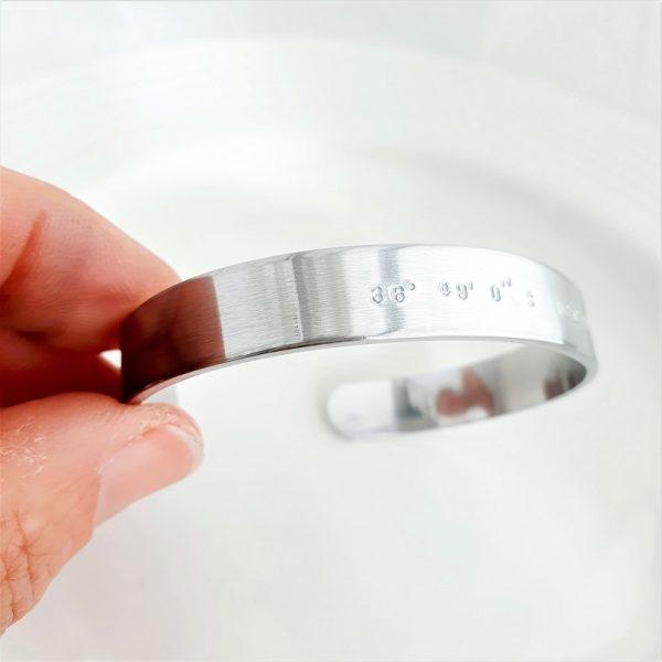15mm Cuff bracelet Aluminium