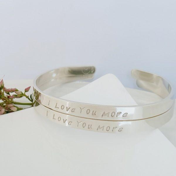 Sterling Silver Cuff bracelet personalised 5mm