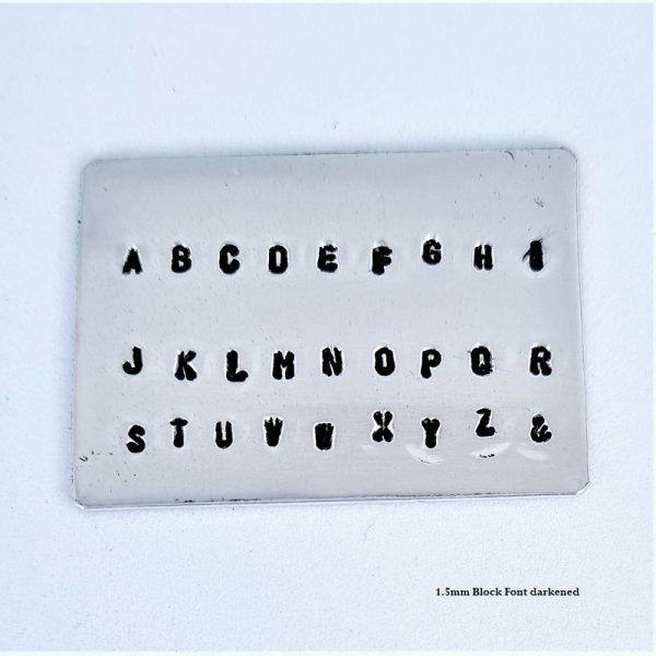 1.5mm block font