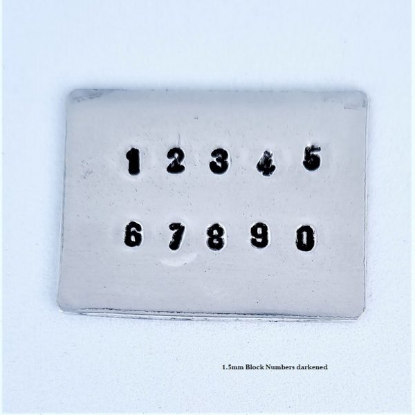 1.5mm block font numbers