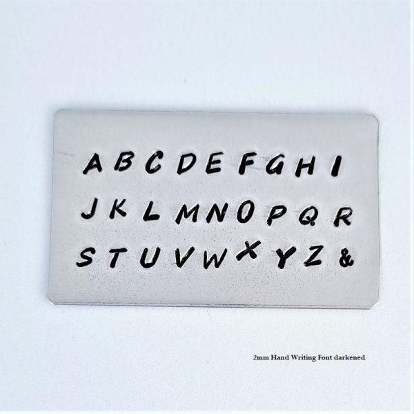 2mm uppercase handwriting font