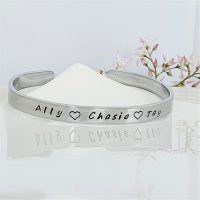 Aluminium Cuff 6mm Personalised
