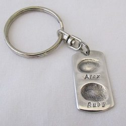 $130. Fine Silver fingerprint key ring